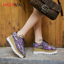 HARAVAL Spring and autumn simple low shoes thick bottom sequins women comfortable square head high heels Single  N99