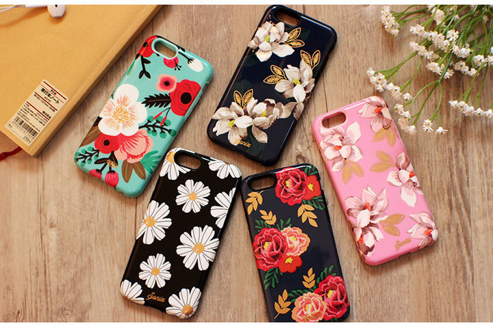 buy online 9dad4 69bf5 US $7.9 |2 player PC+TPU silicone gel Sonix Dahlia flower back cover case  for iphone 6 plus 5.5inch on Aliexpress.com | Alibaba Group