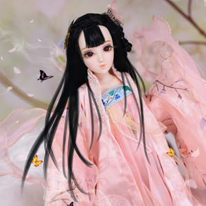 Image 5 - Diary Queen 1/4 BJD joint body Apricot flower with makeup including clothes shoes hair exquisite gift box toy,SD