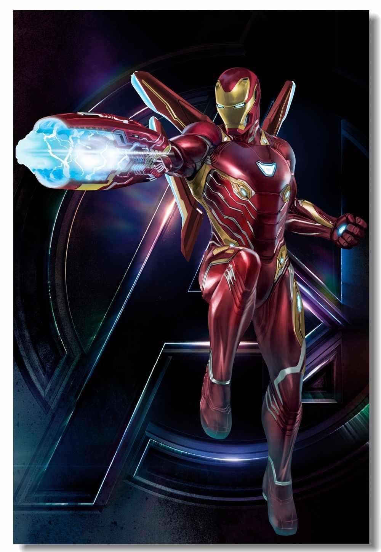Custom Canvas Wall Art Robert Downey Jr  Iron Man Poster Avengers Infinity  War Sticker Mural War Machine Marvel Wallpaper #0335#