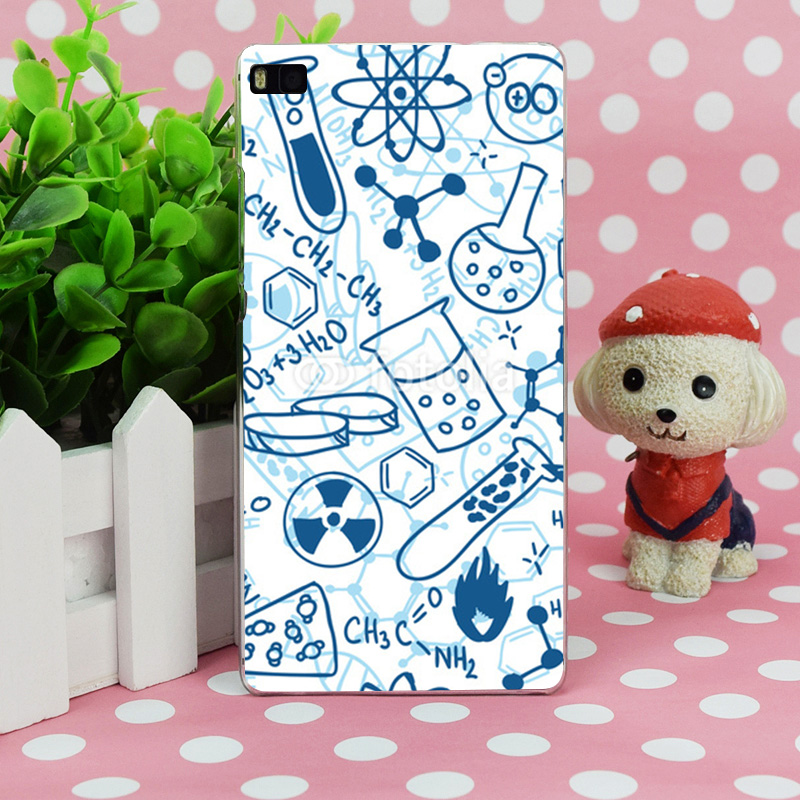 B0642 font b Chemistry b font Style Transparent Hard Thin Case Skin Cover For Huawei P