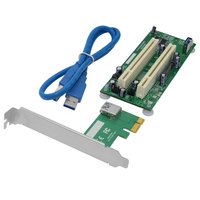 Desktop PCI Express PCI e to PCI Adapter Card PCIe to Dual Pci Slot Expansion Controller Riser Card USB Add on Cards Convertor