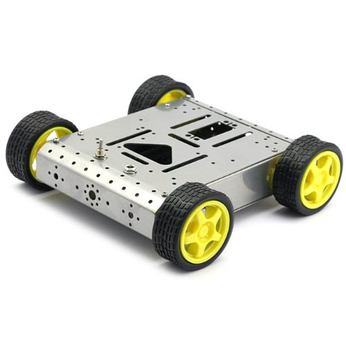 4WD Drive Mobile Robot Platform for Robot Arduino MEGA2560 R3 Duemilanove Silver lcd keypad shield for arduino duemilanove