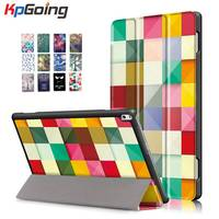 KpGoing Cute Art Paint Tri Fold PU Leather Case For Lenovo TAB4 10 Plus TB X704F