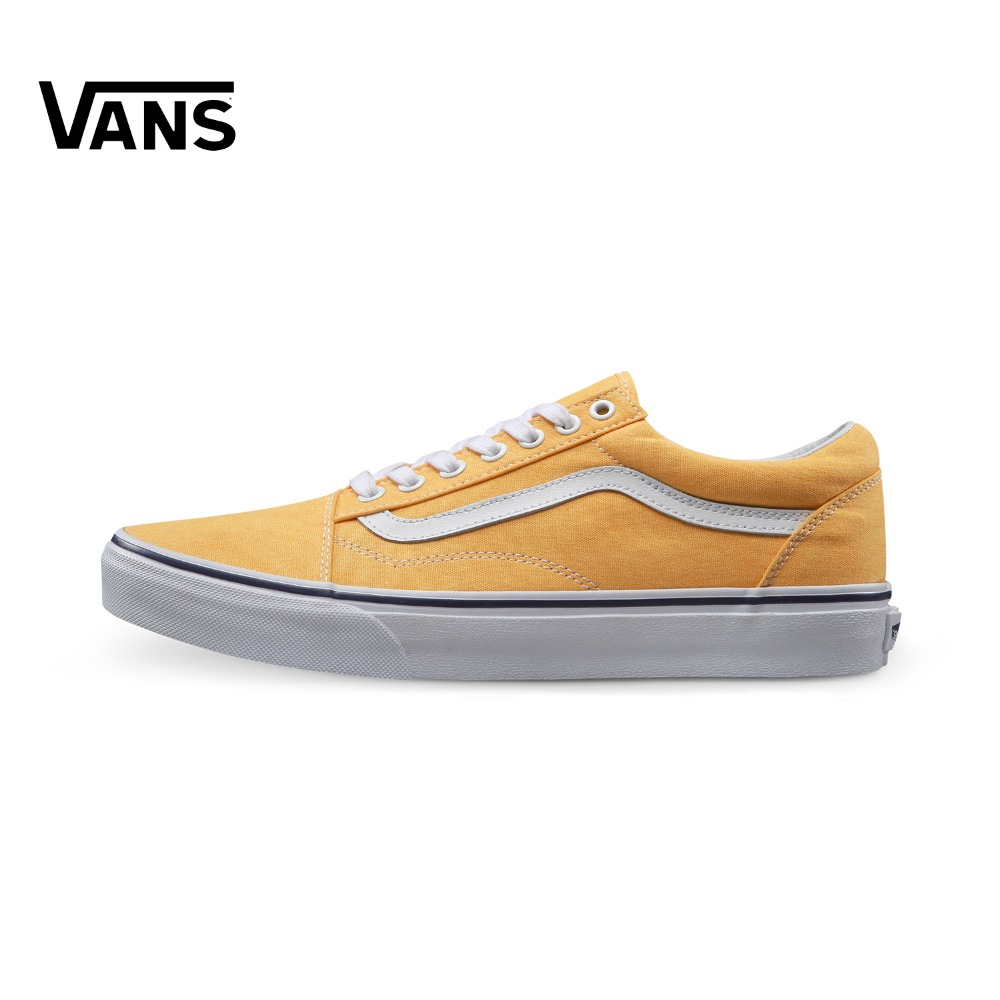 Vans Skool Yellow Old Sneakers Trainers Unisex Men Women Sports Skateboarding Shoes Breathable Classic Canvas Comfortable original vans classic unisex white skateboarding shoes old skool sports shoes sneakers free shipping
