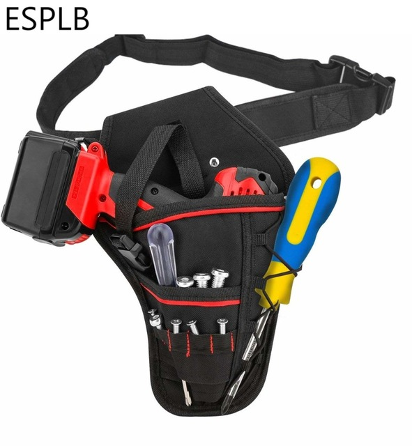 ESPLB Multi-functional Waterproof Drill Holster Waist Tool Bag Electric Waist Belt Tool Pouch Bag for Wrench Hammer Screwdriver