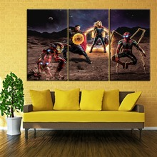 Wall Picture For Home Decoration Artwork One Set Modular 3 Piece Super Hero Movie Avengers Endgame Painting Modern Canvas Print