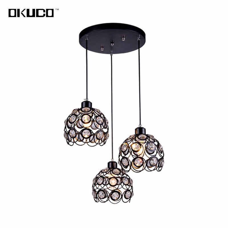 Винтаж Кристалл открытый подвесные светильники кухня светильники для обеденная ретро ресторан кафетерий домашние подвесные светильники