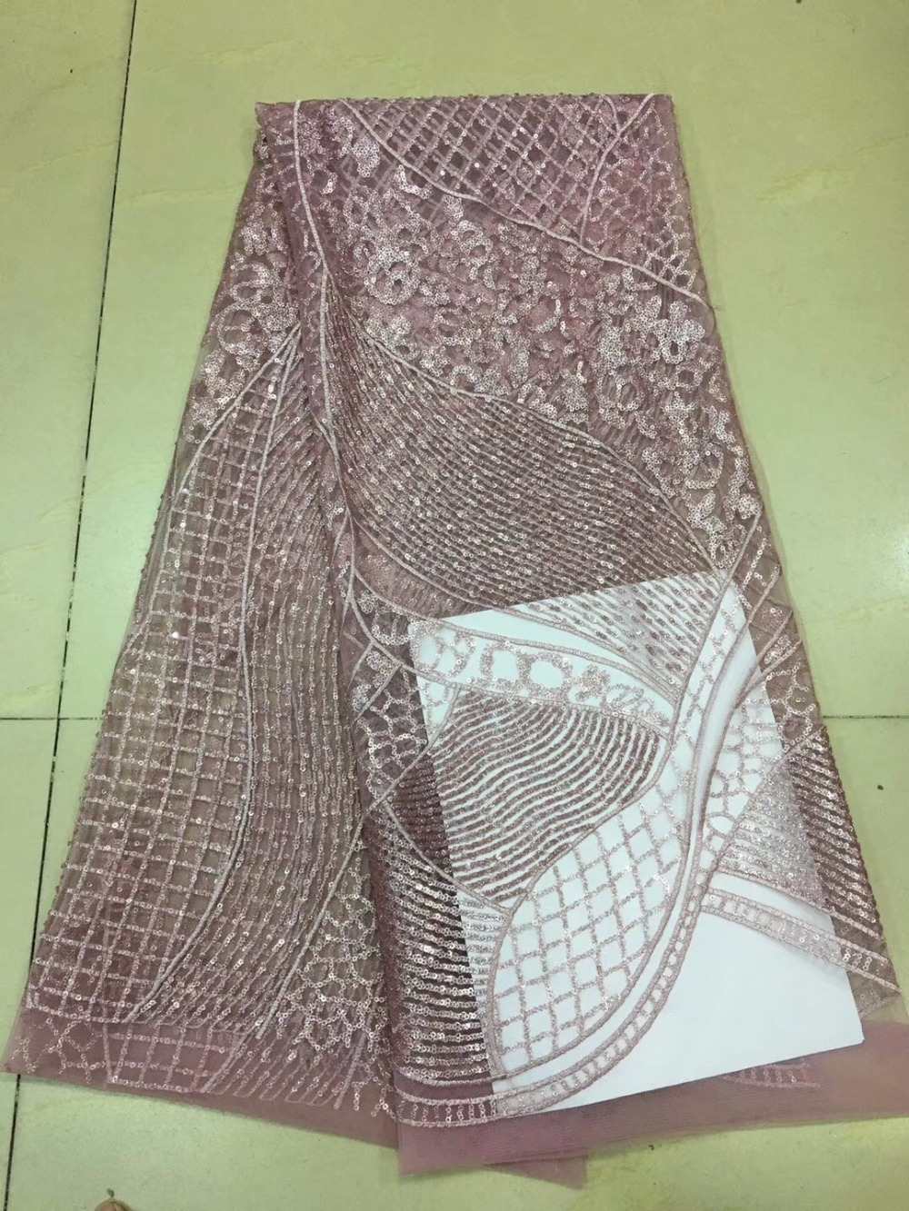 Buy b010 5yards best quality sequin for Wedding dress fabric store