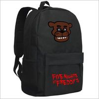 Men Black Backpack Anime Five Nights At Freddys Bear Printing Backpack For Teenage Girls Boy mochila feminina Women School Bags