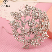 CC tiaras and crowns hairbands luxury pageant crystal rhinestone wedding hair accessories for bride bridal hairwear jewelry s451