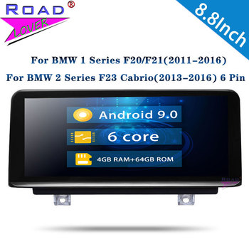 Roadlover Android 9.0 Car Radio GPS Navigtion Autoradio For BMW 1 Series F20/F21 For BMW 2 Series F23 Cabrio 2011-2016 Stereo image