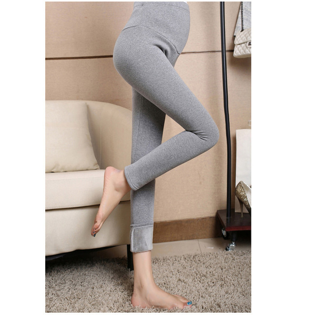 6a3dc5884b413 Warm Anti-Cold Thickening Velvet Leggings Pencil Pants Skinny Trousers for  Pregnant Women High Waist Maternity Leggings Clothing