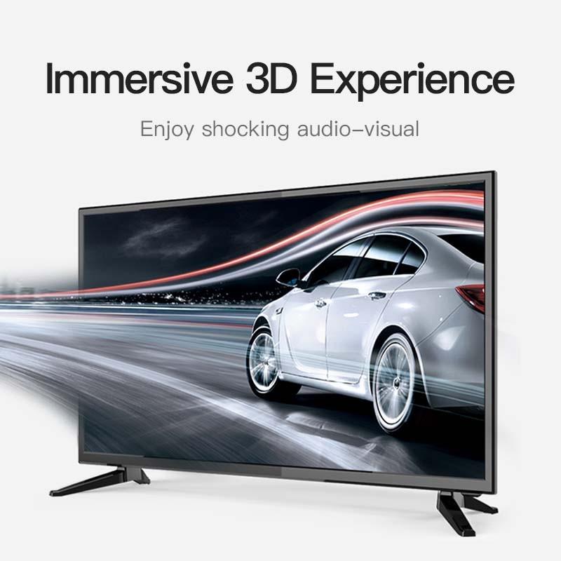 Vention HDMI câble 2.0 HDMI vers HDMI câble 4K HDMI câble 5m pour HD TV ordinateur portable lcd PS3 projecteur ordinateur câble 5m 2m fibre optique - 4