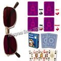 Magic Props XF 003 Invisible Ink Sunglasses With Magic Playing Cards Anti Poker Cheat Perspective Glasses