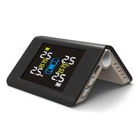 2 types Solar Power TPMS Met 4 Sensoren PSI/BAR Wireless Real time Monitoring Tire Pressure Alarm Car Charger display Portable