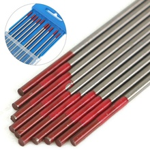 10Pcs/box WP Red Thoriated Tungsten Electrode Tip TIG Welding Electrodes 175mm X 2.4mm