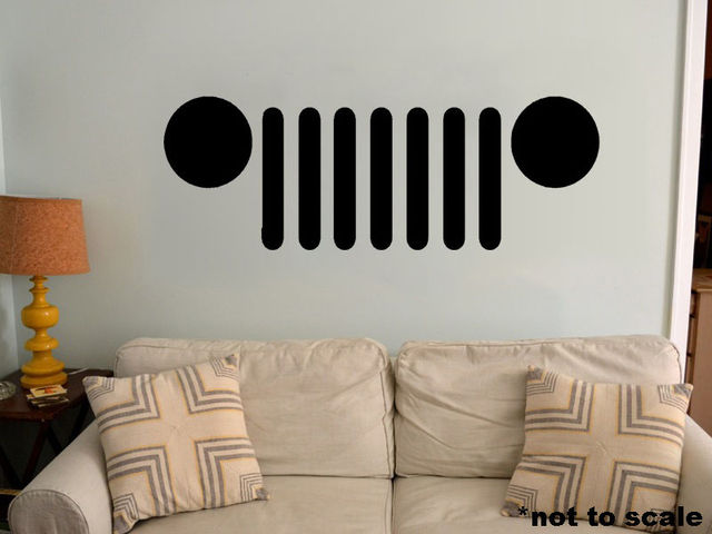 G127 Jeep Grille Interior Wall Decal vinyl decor sticker grill ...