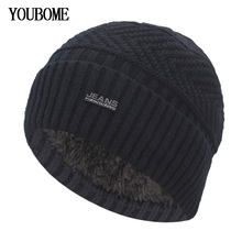 YOUBOME Skullies Beanies Winter Hats For Men Scarf Knitted H