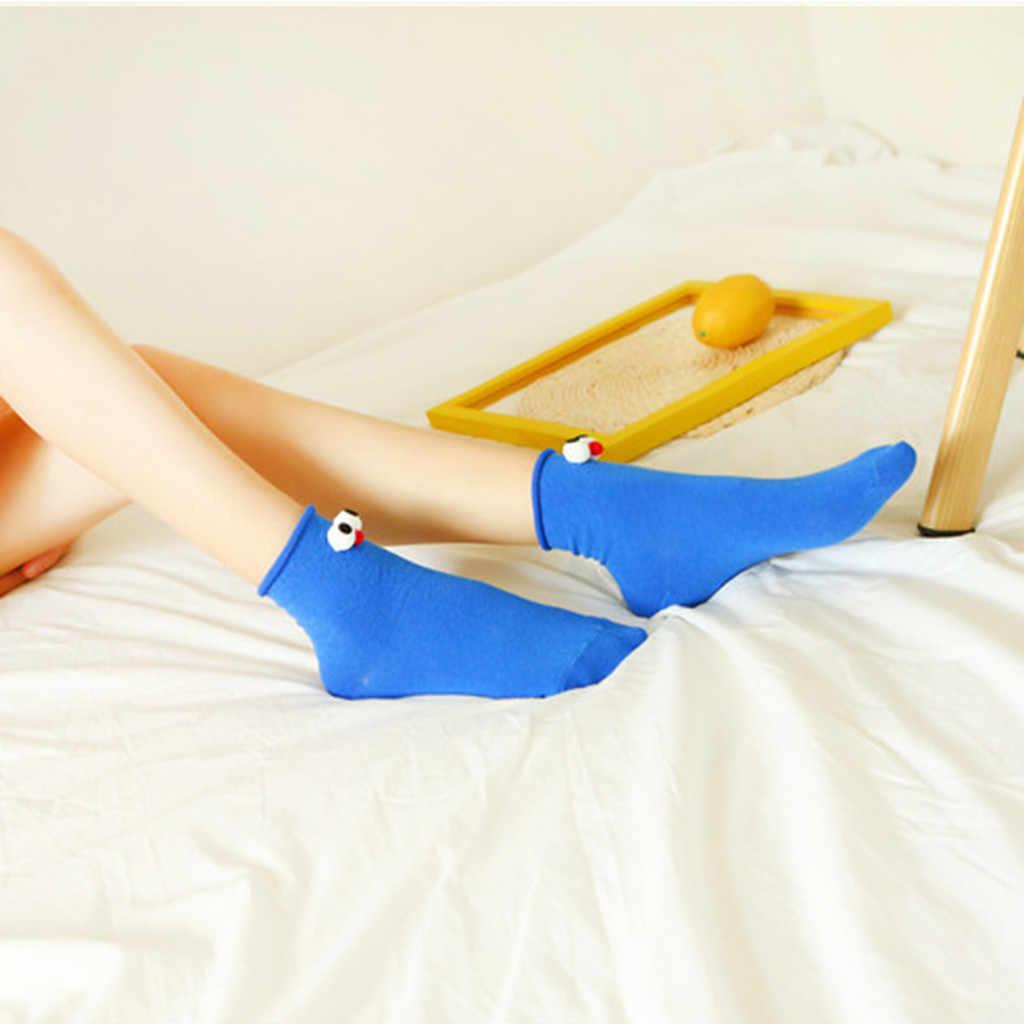 FREIER OSTRICH Socken Mode Persönlichkeit Stereo Augen frauen Socken Candy Farbe Baumwolle Cartoon Koreanische Einfache Campus Wind Socken
