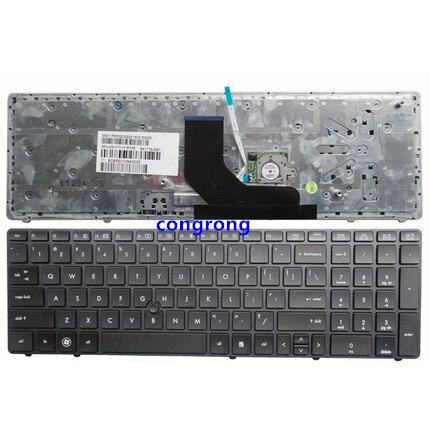 HP Elitebook 8560p 8570p Russian keyboard Клавиатура pointer silver frame
