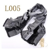 Silk warm and delicate 8 mulberry silk men's scarf to warm up and down black and white grey 005
