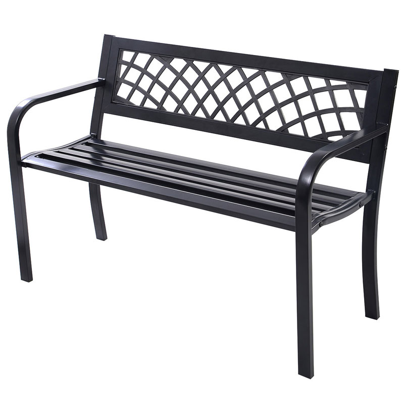 COSTWAY High Quality Antique Cast Aluminum Park Patio Bench Garden Chair  Outdoor Furniture Seat OP2781 In Garden Chairs From Furniture On  Aliexpress.com ...