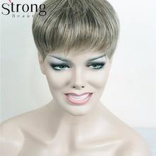 StrongBeauty парик женский Синтетический волос короткий парик наращивание волос кусок цвета выбор