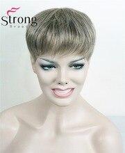 شعر مستعار قوي للمرأة الاصطناعية الشعر المستعار القصير ملحقات الشعر قطعة الشعر خيارات اللون