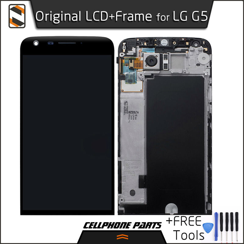 ФОТО Original LCD+Frame for LG G5 H840 H850 LCD Display Touch Screen with Digitizer with Frame Full Assembly Replacement+FREE Tools