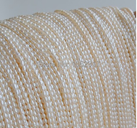 Top Real pearl Small Rice Bead 1.8mm Natural freshwater Pearl 35cm one Strand White Pink Purple Loose Beads Women Jewelry