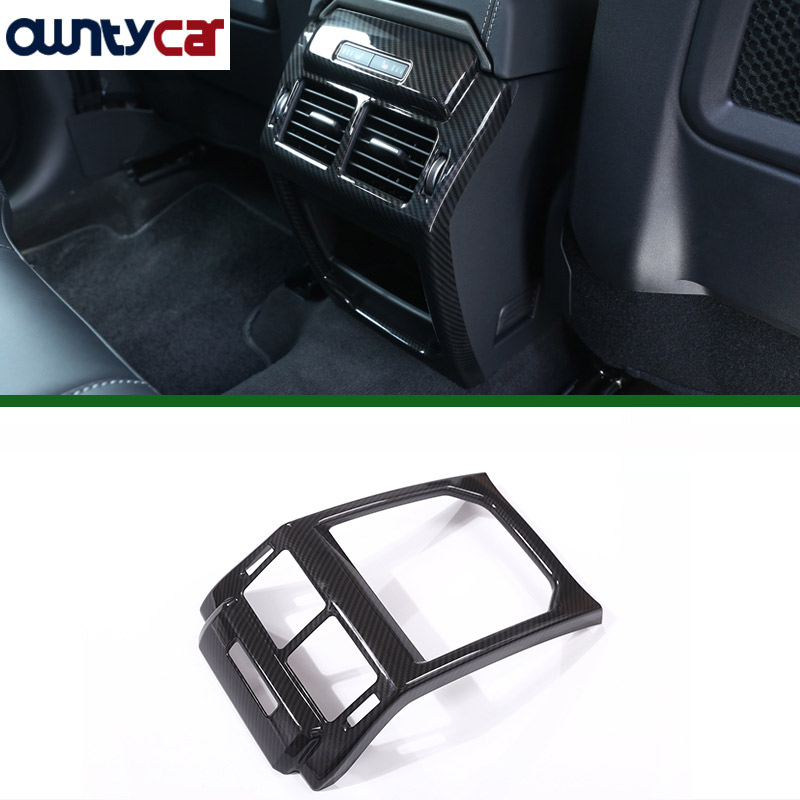 New Carbon Fiber Style ABS Plastic Accessories For LandRover Range Rover Evoque 12 17 Rear Row
