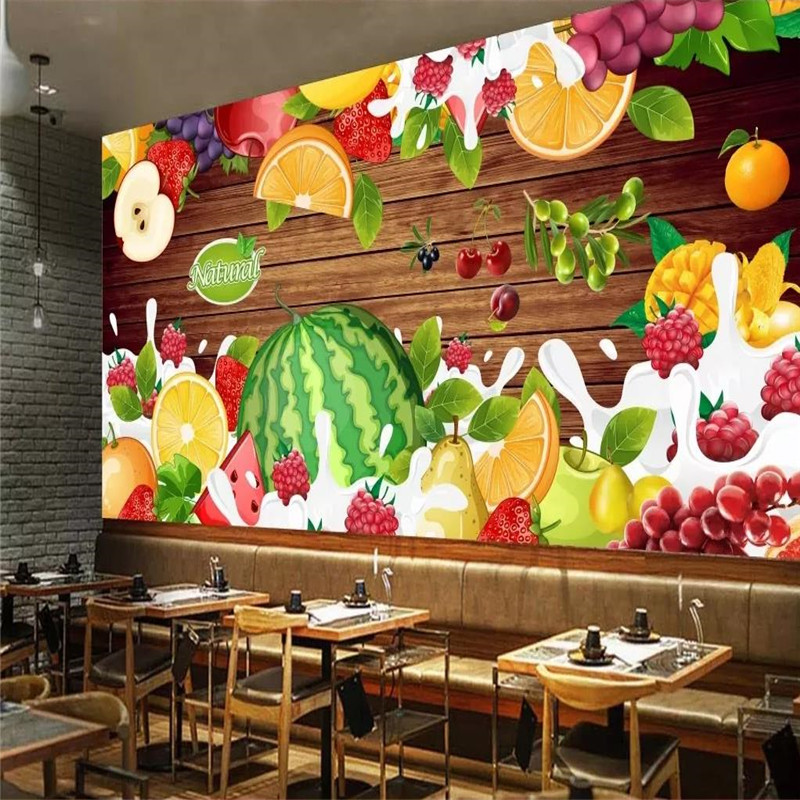 Custom wallpaper cement wall hand painted pizza pizza takeaway background wall painting advanced waterproof material in Wallpapers from Home Improvement