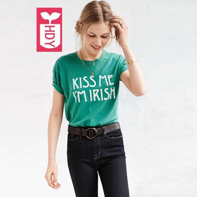 100Coton Hauts Été Shirts Manches Streetwear T Courtes Femme Je Unique Moi Irlandais Embrasse Vestidos Femmes Punk 2018 Suis v8Nwmn0