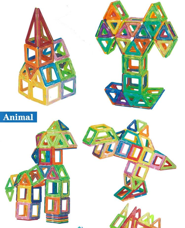 Magnetic Building Blocks Animal 3D models