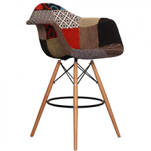 MODERN DESIGN PATCHWORK SOFT COVER PADDED BAR STOOL COUNTER STOOL BAR CHAIR WOODEN LEG CUSHION PADDED COVER MODERN FURNITURE(China)