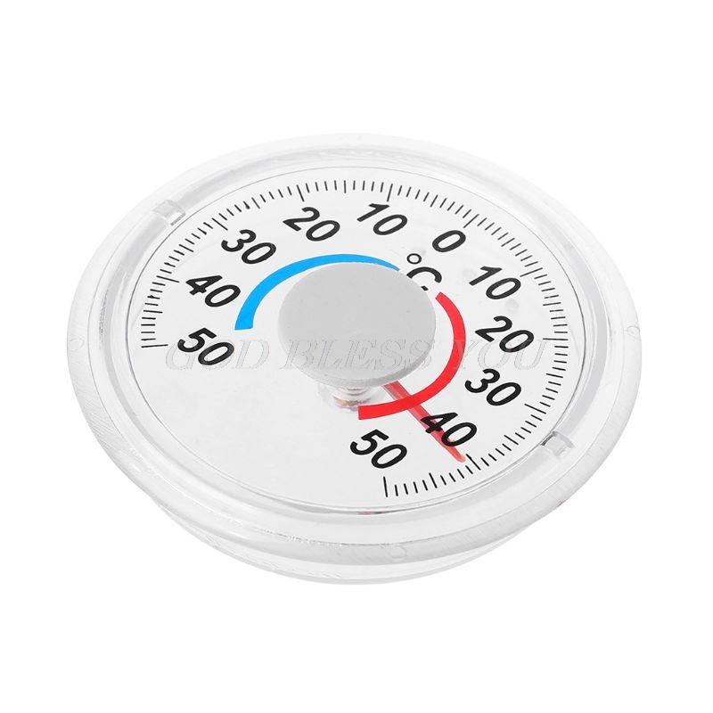 Self Adhesive Thermometer For Indoor Outdoor Window Wall Garden Home Greenhouse Household Thermometers