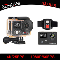 GEEKAM H3/H3R Action Camera 4K Wifi Ultra HD 170D Go 30M Waterproof Mini Cam Pro Double Screen Swim Sports Camera Hero 4 style