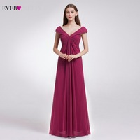 Free Shipping Ever Pretty 08457 Women S Sexy V Neck Long Purple Party Dress 2015