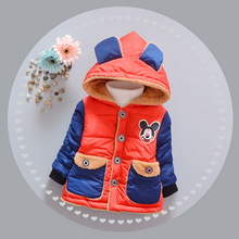 Baby winter coat unisex cotton clothes for baby girls boys wear cotton-padded jacket baby infant thick Cartoon outerwear