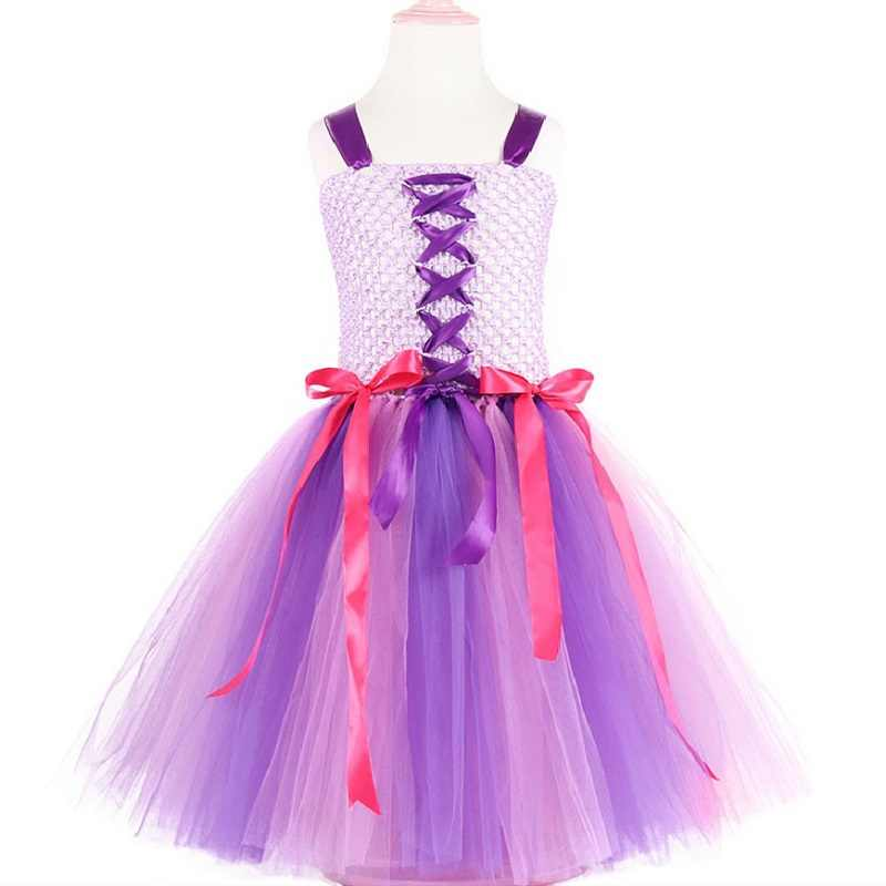 7a85aa21304ea 3-10 year Girl cute novelty evening dress child Unicorn Cosplay Catwalk  Dress Rainbow color Spliced Elasticity personality dress