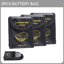 3PCS Mavic pro Battery Bags Lipo Battery Safe Bag Fire Protection Pouch Case Cover for DJI Mavic Pro Drone