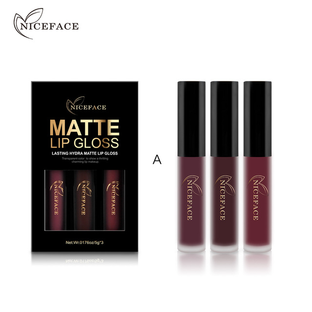 товар 3 Pcsset Brand Makeup Matte Lipstick Kit Long Lasting Lip