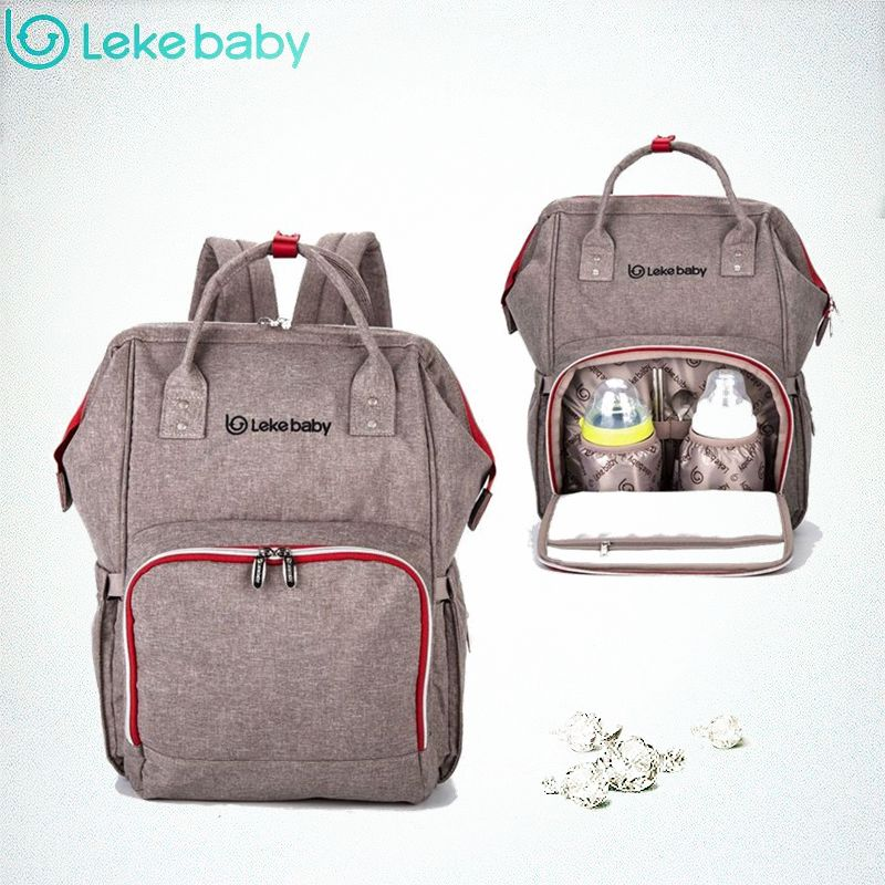 Lekebaby Baby Bag Nappy Bags Large Diaper Bag mom Backpack Baby Organizer Maternity Bags For Mother Handbag Baby Nappy Backpack sunveno pu leather baby bag organizer tote diaper bags mom backpack mother maternity bags diaper backpack large nappy bag