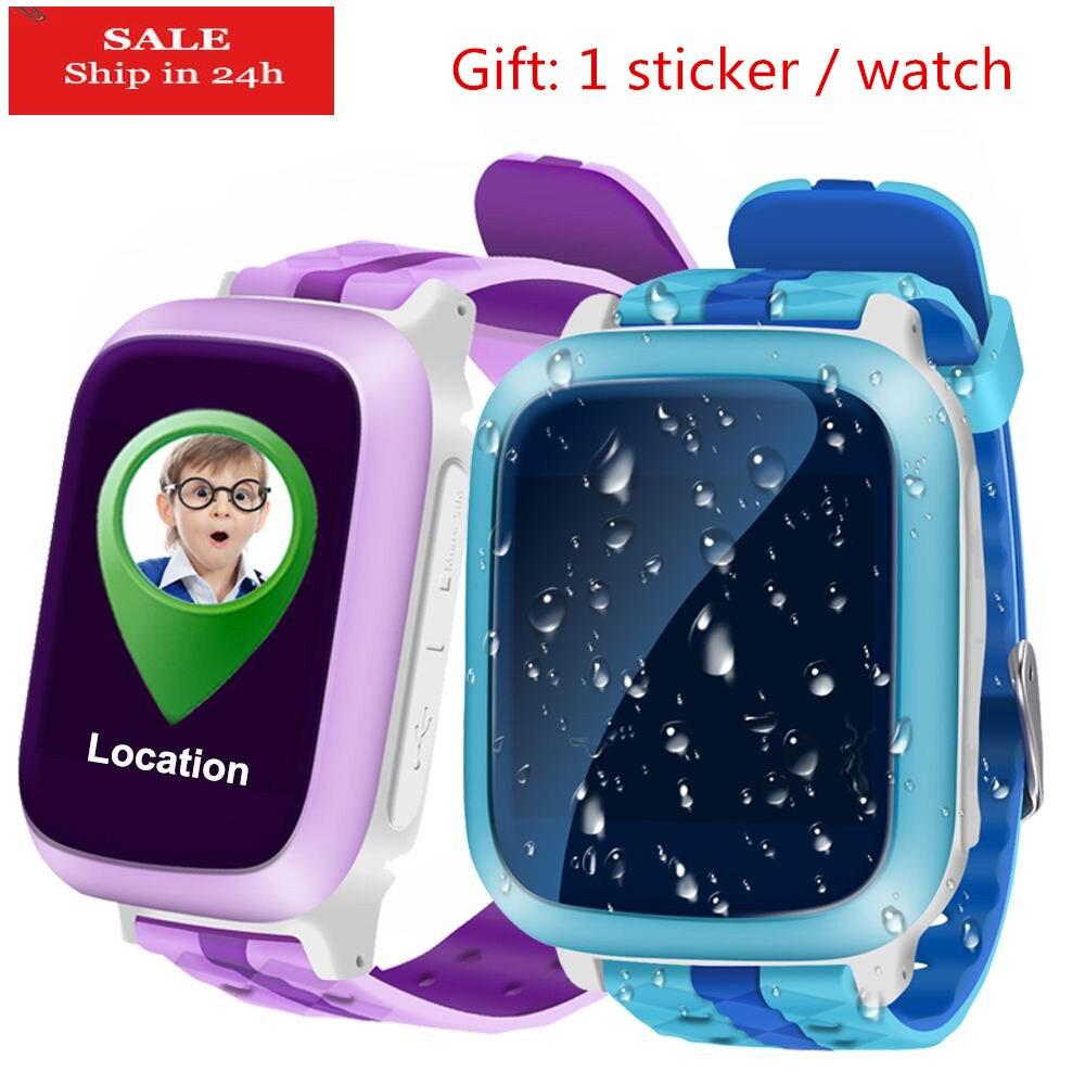 La vie Imperméable À L'eau GPS Montre Smart Watch pour Enfants soutien Sim Carte Anti-perdu SOS Moniteur Enfant Cadeau Smartwatch Téléphone Écran Couleur PK Q90