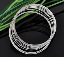 Free Shipping 1000 Loops Silver Tone Memory Beading Wire for Bracelet 50 55mm Dia. J2699