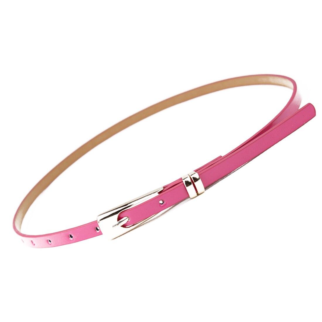 Skinny Waist   Belt   Women   Belt   Candy Color Thin Leather Narrow Waistband Dress Accessories Decorative Beltsbelt