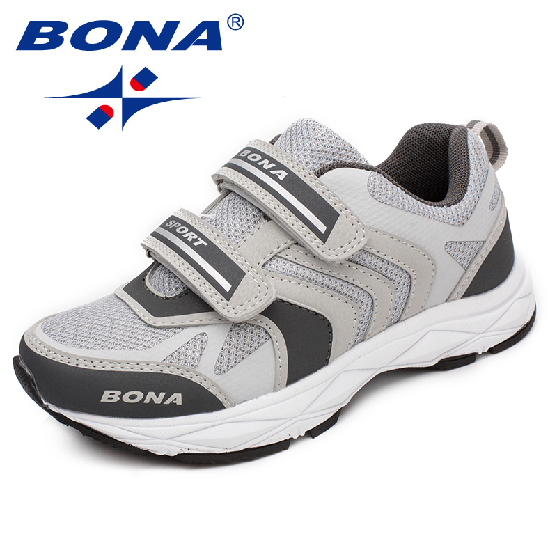 BONA New Fashion Style Children Casual Shoes Hook & Loop Boys Loafers Mesh Girls Flats Comfortable Outdoor Fashion Sneakers
