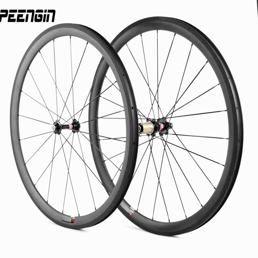 clincher carbon wheels decals can be offered 38 mm 700C roue carbone bike tubular rim 23mm tubeless Novatec wheelsets hub spokes(China)