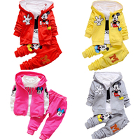 Autumn winter Boy Girl Cartoon Mickey Mickey Mouse Leisure Clothes Newborn Baby Kids Suits Infant Clothing Children's Suit 3pcs
